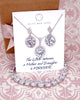 Silver Round CZ Jewelry Set