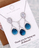 Silver Montana Blue Teardrop Jewelry Set