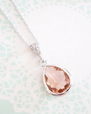 Champagne Teardrop Necklace