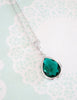 Emerald Teardrop Earrings