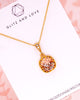 Light Silk Crystal Gold Necklace