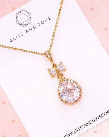Gold Luxe Cubic Zirconia Necklace