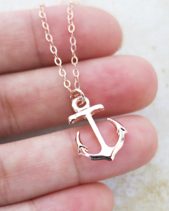 Anchor Earrings and necklace| Fashion Jewelry | Beach Nautical Wedding |Bridesmaid