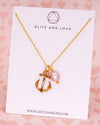 Anchor Necklace | Beach Nautical Ocean Sea Marine Gift | BFF Birthday