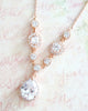 Rose Gold Luxe CZ Necklace