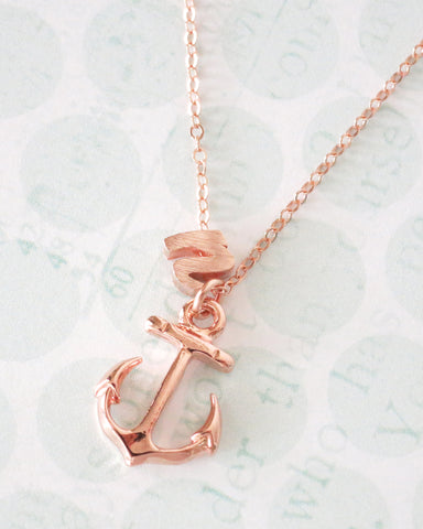 Personalised Anchor Necklace