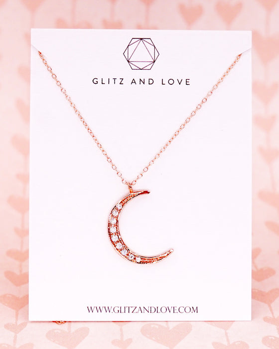 Crescent Moon Necklace - Celestial