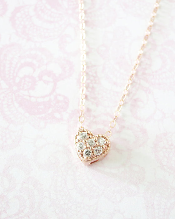Simple Love necklace - Rose Gold