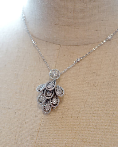 Petal Cubic Zirconia Necklace