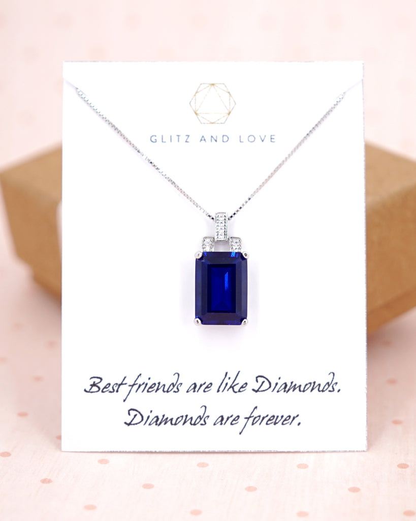 Sapphire Sterling Silver Necklace