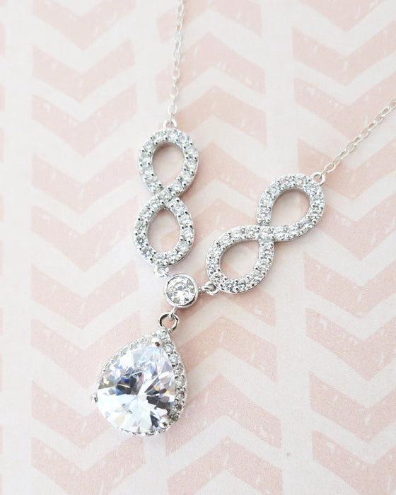 Double Infinity Necklace | Feminine Timeless Jewelry | Elegant Bridal