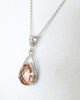 Champagne Glass Teardrop Necklace