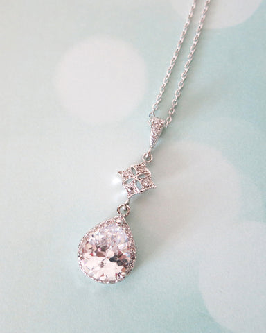 Luxe Cubic Zirconia Teardrop necklace