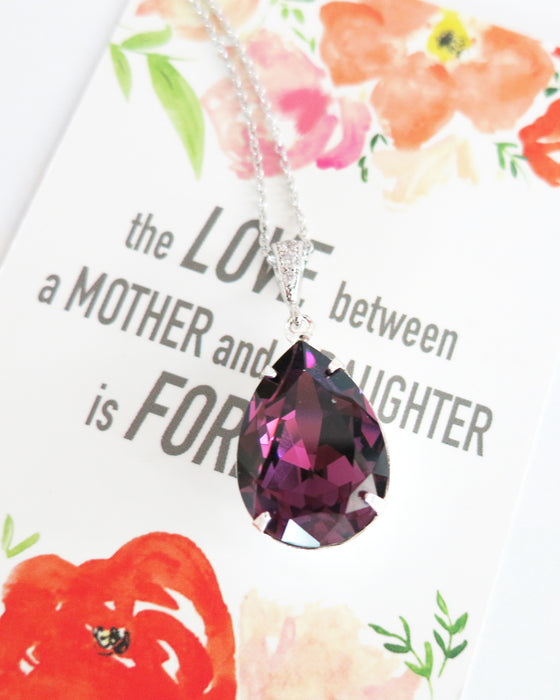 Amethyst Crystal Necklace | Purple lover minimalistic everyday style