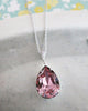 Antique Pink Crystal Necklace