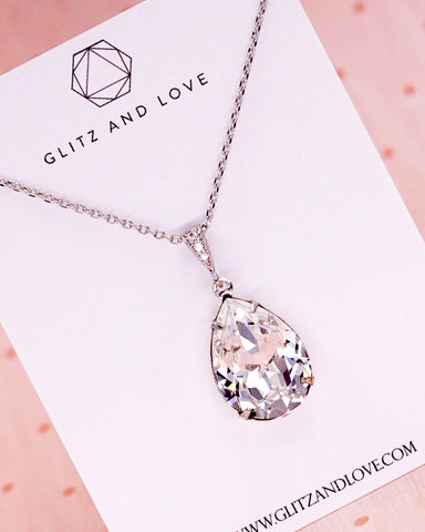 Swarovski Crystal Teardrop Necklace