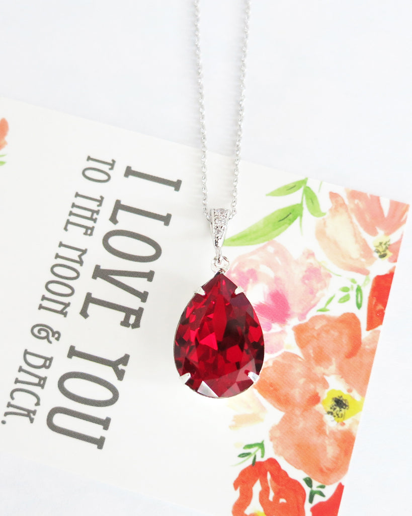 Siam Red Crystal Necklace
