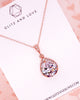Rose Gold Luxe Teardrop Necklace