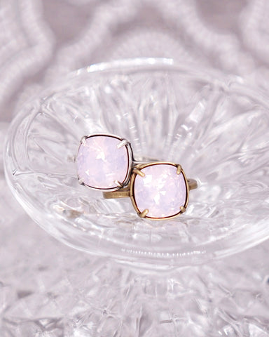 Rosewater Opal Crystal Cocktail Ring