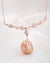 Iridescent Gold Baroque Necklace | Y-drop Freshwater Pearl Jewelry