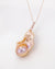 Soft-hued Baroque Flameball Pearl Necklace | Elegant Freshwater Gold Pink Flameball Rose Gold Jewelry