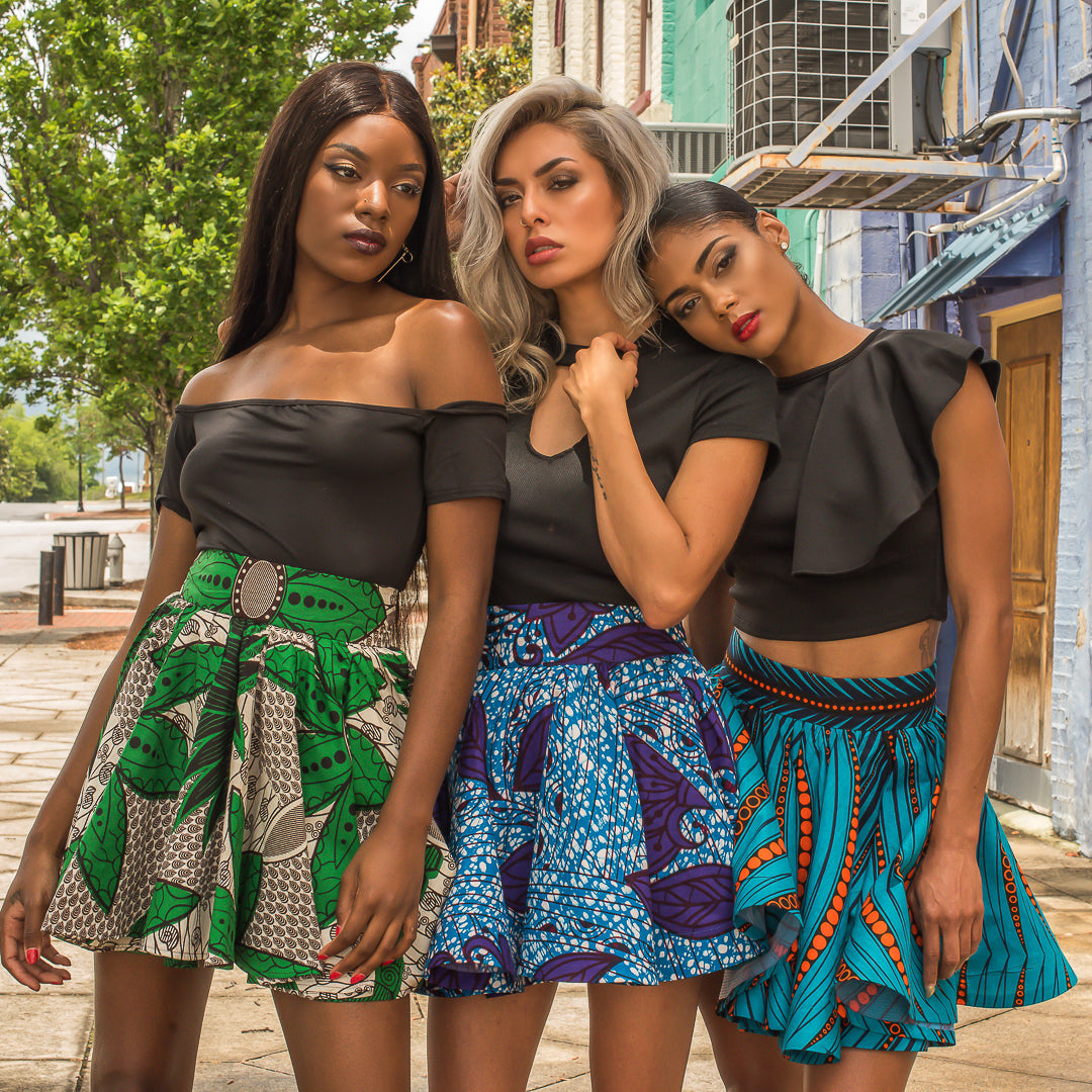 10 Ways to Wear Your African Prints Skirts