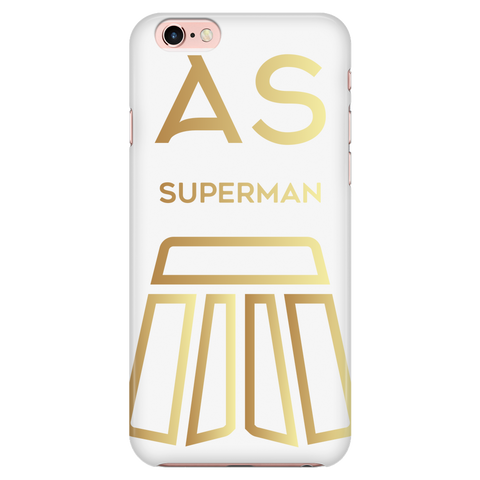 AS Superman | White iPhone 6/6s Custom Case Protector | GOLD