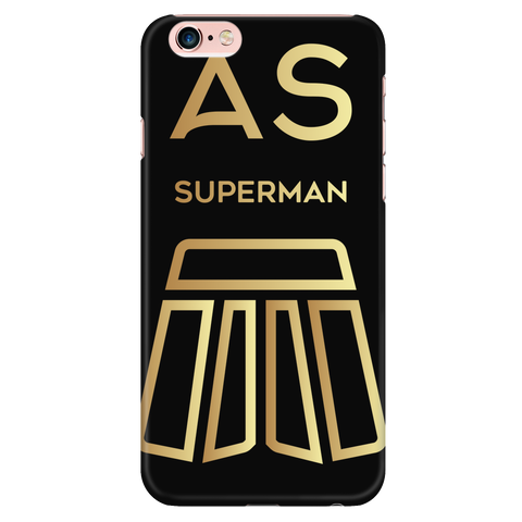 AS Superman | Black iPhone 6 Plus/6s Plus Custom Case Protector | GOLD