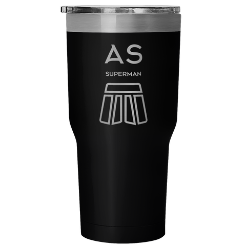 AS Superman | 30oz Vacuum Tumbler Mug | Hot & Cold