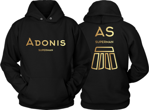 Adonis Superman | Double-Sided Hoodie | GOLD