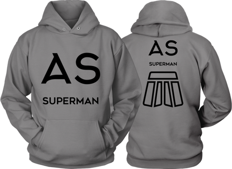 AS Superman | Double-Sided Hoodie | BLACK