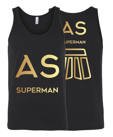 As Superman | Double-Sided Unisex Tank | GOLD
