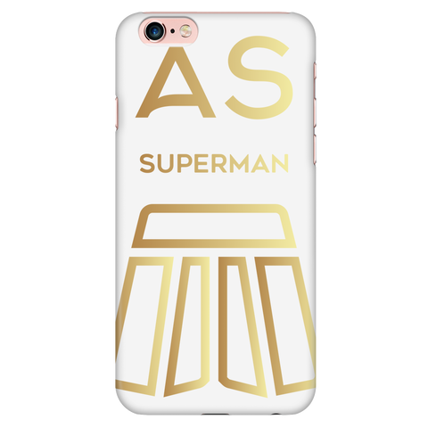 AS Superman | White iPhone 6 Plus/6s Plus Custom Case Protector | GOLD