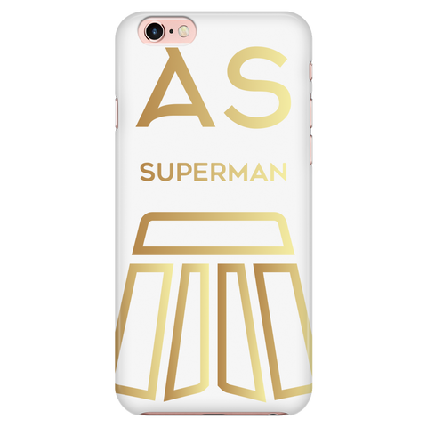 AS Superman | White iPhone 7 Custom Case Protector | GOLD