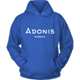 Adonis Superman | Double-Sided Hoodie | WHITE