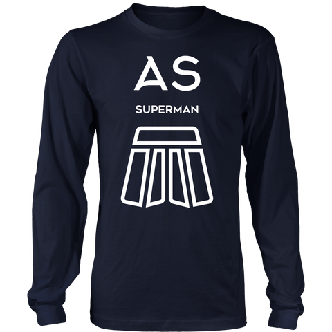 AS Superman | District Cotton Long Sleeve | WHITE