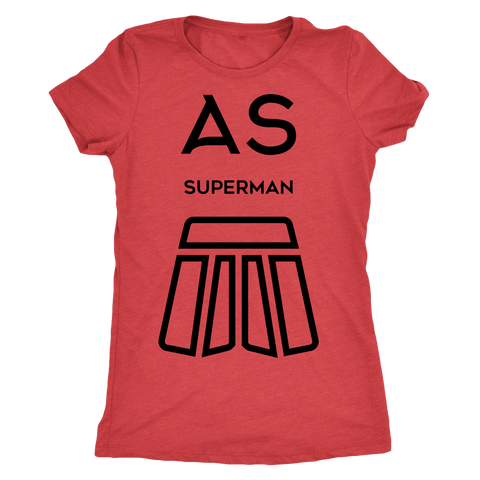 AS Superman | Next Level Ladies Triblend | BLACK