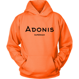 Adonis Superman | Double-Sided Hoodie | BLACK
