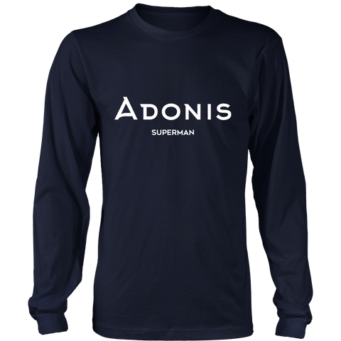 Adonis Superman | District Long Sleeve Shirt | WHITE