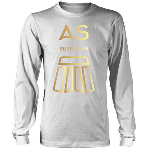 AS Superman | District Cotton Long Sleeve | GOLD