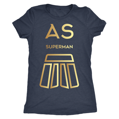 AS Superman | Next Level Ladies Triblend | GOLD