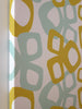 Modern pattern canvas wall art in light blue/yellow