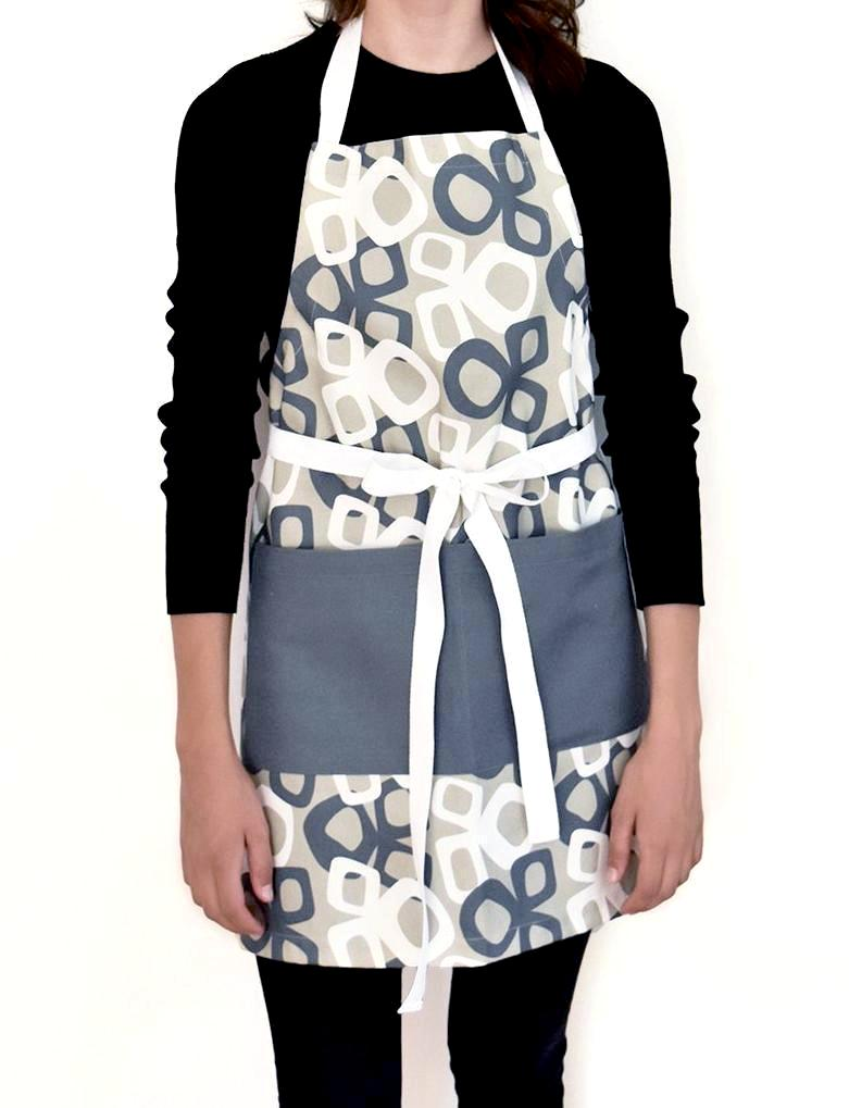 Bow Linen Cotton Apron Ink