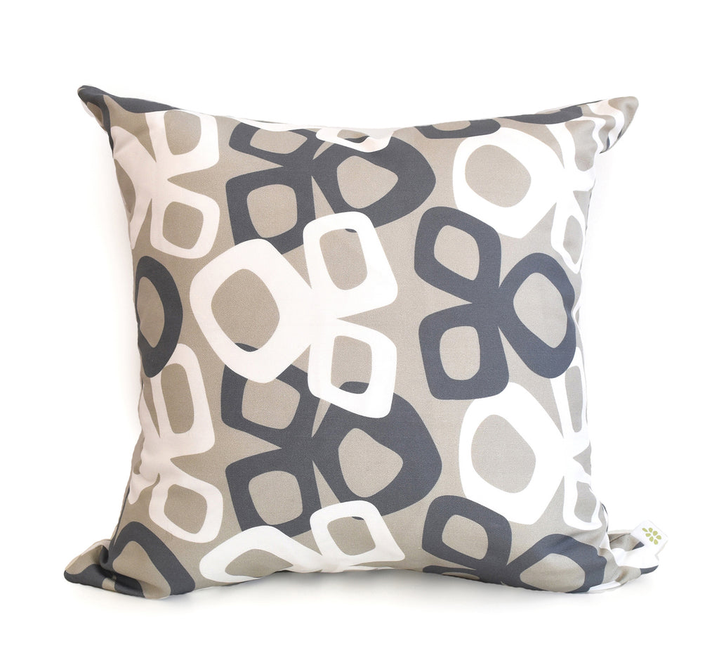 Bow Linen Cotton Pillow (18x18) – Ink