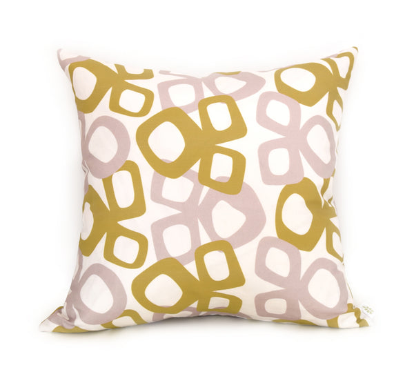 Bow Linen Cotton Pillow (18x18) – Mustard