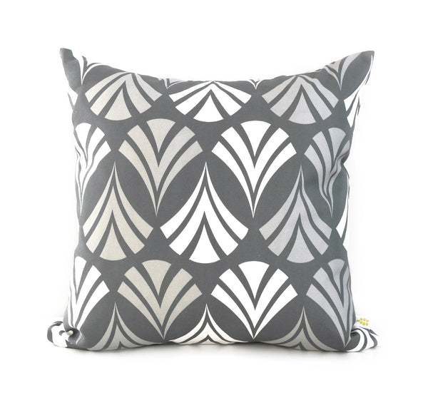 Waltz Linen Cotton Pillow (18x18) – Steel Grey