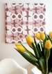 Modern pattern canvas wall art in purple