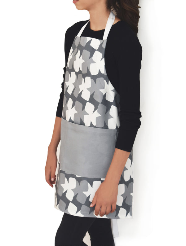 Tilt Linen Cotton Apron – Charcoal