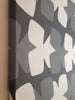 Modern pattern canvas wall art in gray/white