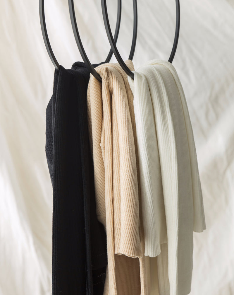 High neck merino  - Noir